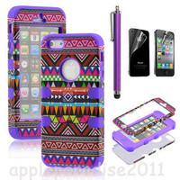Sexy summer  051021 Totem Protective Case For Iphone 4/4s/5 with pen and sticker