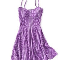 Batik Cut-Out Dress - Aeropostale