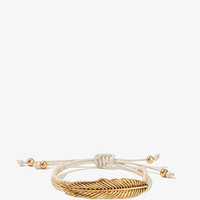 Etched Leaf Friendship Bracelet | FOREVER 21 - 1017307147