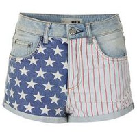MOTO Bleach Flag Hotpants - Shorts - Clothing - Topshop USA