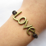 "Antique bronze ""love"" bracelet"