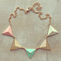 Pree Brulee - Pastel Pyramids Necklace