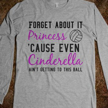 Volleyball Princess-Unisex Heather Grey T-Shirt