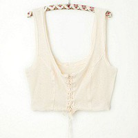 Intimately  Lace Up Crop Cami at Free People Clothing Boutique