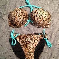 Victoria's Secret Add-2-Cups Halter Top and Side-Tie Bottom Bathing Suit