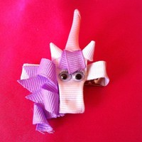 Unicorn Ribbon Sculpture Hair Clip by SweetTangerineBoutiq on Etsy