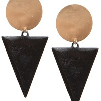 Deco Triangle Earrings - Black - Jewelry | GYPSY WARRIOR