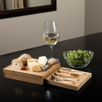 Picnic at Ascot Edam Bamboo Cheese Board Set | www.hayneedle.com