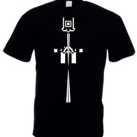 Mens Tshirt  - Black - Arrow - Printed w/ Eco-Friendly ink (S M L XL) Mens T-shirt Short sleeve, Mens Tshirt, Mens T shirt, made in israel