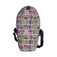 stamped sherbet owls messenger bags from Zazzle.com