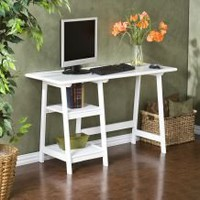 White A-frame Desk | Overstock.com