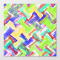 Nu Wave Stretched Canvas by Glanoramay