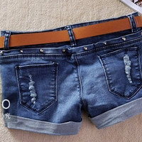 Fashion Fancy Women Girl Denim Low Waist Sexy Awesome Short Shorts Hot Pants d28
