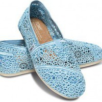 Blue Crochet Women&#x27;s Classics | TOMS.com