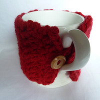 Crochet Mug Cosy Red