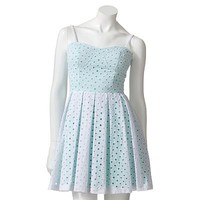 Lily Rose Eyelet Fit and Flare Dress - Juniors