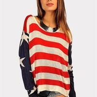 Red White And Blue Sweater - Red/Blue