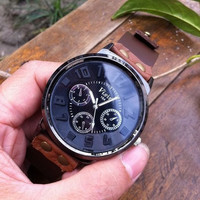 real brown leather wrist watch bracelet for men, men&#x27;s wrist watch, boy wrist watch  PB037