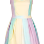 **Rainbow Skater Dress by Lashes Edit - Clothing Brands  - Clothing