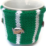 Knitted Football Fan Mug Cup Cozy For Him Fathers Day