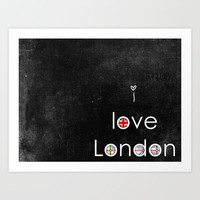 i love London Art Print by ingz