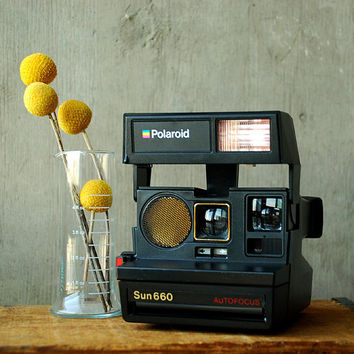 Polaroid Sun 660 Land Camera Vintage 80's Retro Instant by vint