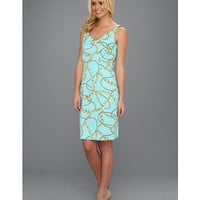 Tahari by ASL Martha Dress Aqua/Gold - Zappos.com Free Shipping BOTH Ways