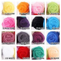 Amazon.com: LOCOMO Multi Color Colorful Mix Match Scarf Shawl Wrap Wavy Ruffle Crinkle FAF019s01 Yellow: Clothing