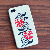 Ethnic Cross stitch iPhone case 4 or 4s - ethnic Ukrainian embroidery - c005