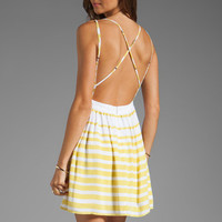 DV by Dolce Vita Hanni Ascending Stripe Mini Dress in Yellow/White from REVOLVEclothing.com