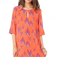 Avenal Shift Dress in Coral - ShopSosie.com