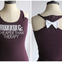 Running Cheaper than Therapy Bow Tank Top Plum - MEDIUM