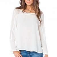 Thayer Top in Off White - ShopSosie.com