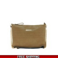 River Island Tan Embossed Cross Body Bag