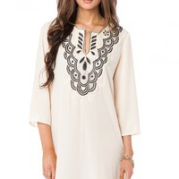 Genussa Dress in Ivory - ShopSosie.com