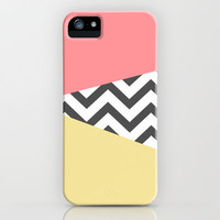 Color Blocked Chevron 2 iPhone & iPod Case by Josrick