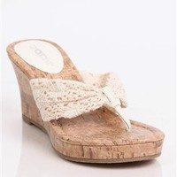 cork slide crochet wedge - 1000044523 - debshops.com