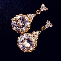 Princess&#x27;s Jewel Rhinestone Earrings | LilyFair Jewelry