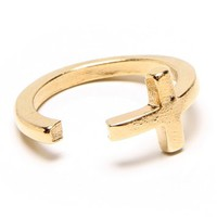 Gold Danity Cross Midi Ring