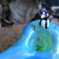 Green Penguin Spoon by cripplecreekglass on Etsy