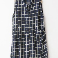 Plaid Pattern Chiffon Shirt