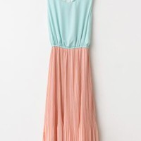 Ice-cream Cutout Back Chiffon Midi Dress