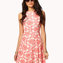 Baroque Print A-line Dress | FOREVER 21 - 2041127964