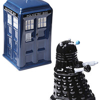 Tardis &amp; Dalek Salt &amp; Pepper Shakers