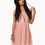 Floral Lace Dress w/ Belt | FOREVER 21 - 2042997025