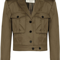 Burberry London|Cropped stretch-cotton twill jacket |NET-A-PORTER.COM