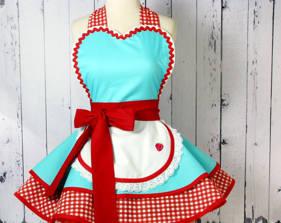 Dots Diner Retro 50s Diner Waitress Apron   Made to by dotsdiner