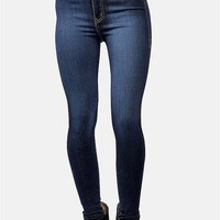 Classic High Waist Skinnies - Blue at Necessary Clothing