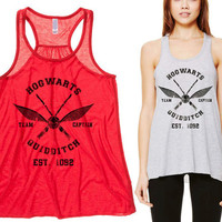 Harry Potter Hogwarts Flowy Racerback Tank Top