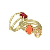 Stormy Stackable Rings in Orange Fig - Kendra Scott Jewelry